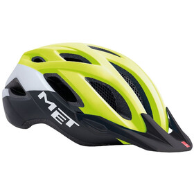 MET Crossover Helm safety yellow/white/black